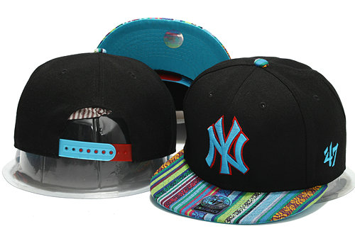 New York Yankees Black Snapback Hat YS 0701
